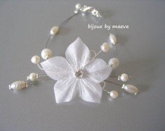Crystal Floral Bridal Necklace Clear Rhinestone by adriajewelry