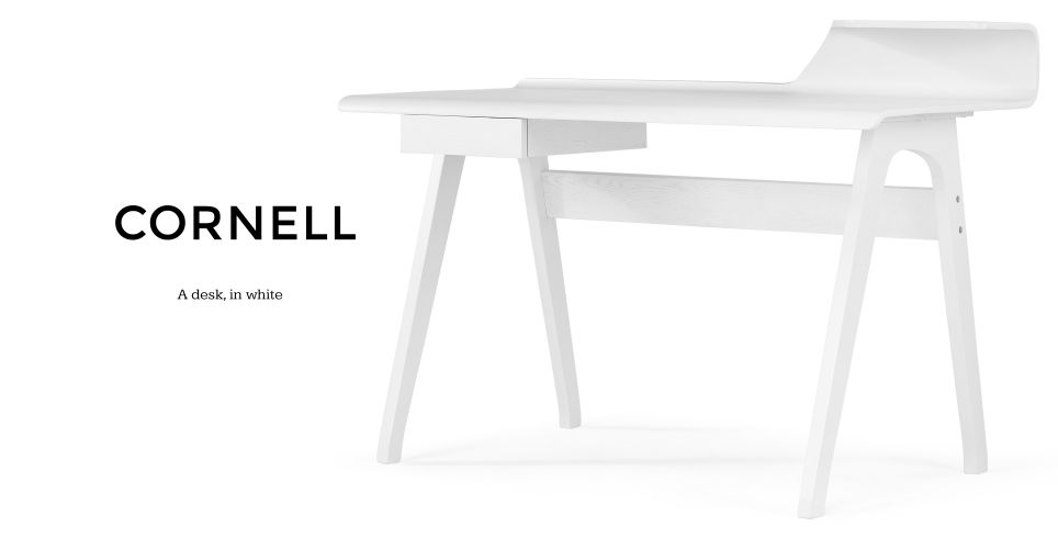 Cornell Desk in white | made.com