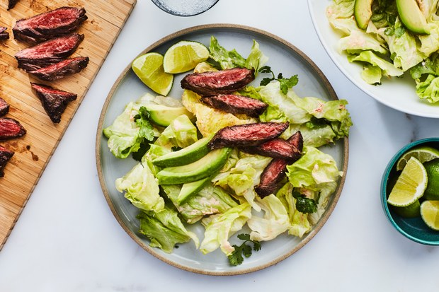 Skirt Steak With Spicy Coconut Dressing Recipe In 2020 Skirt Steak Food Recipes Spicy