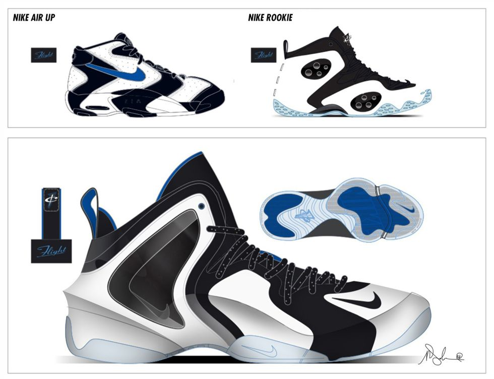 Sneaker Sketch of the Week Marc Dolce's Nike Lil Penny
