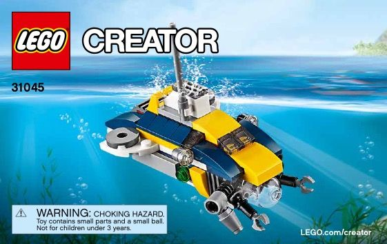 Lego Ocean Explorer Instructions 31045 Creator Lego Pinterest