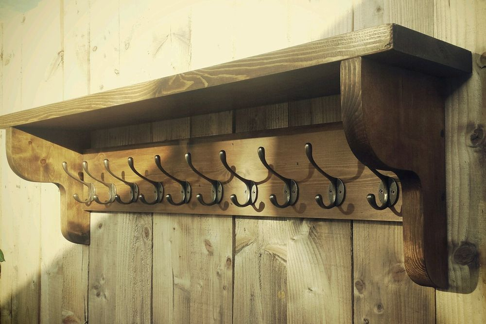 Extra Large Vintage Style Coat Hook Rack
