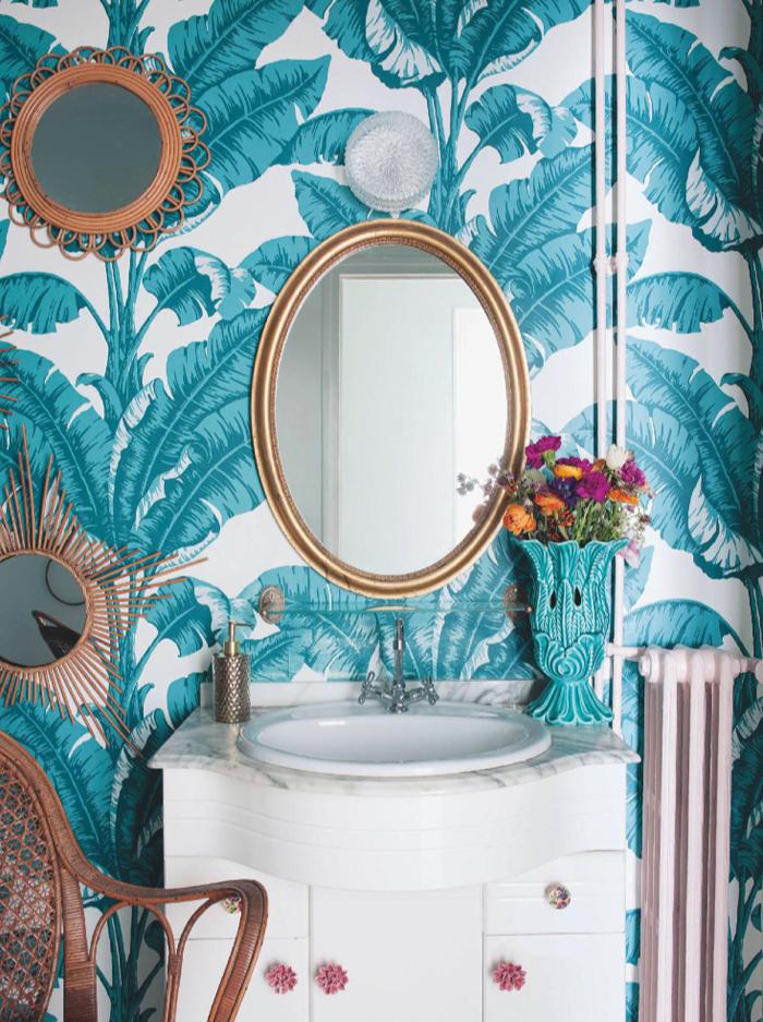 Wild Spots Allover Small Bathroom Decor Wallpaper Stencil Bathroom Wallpaper