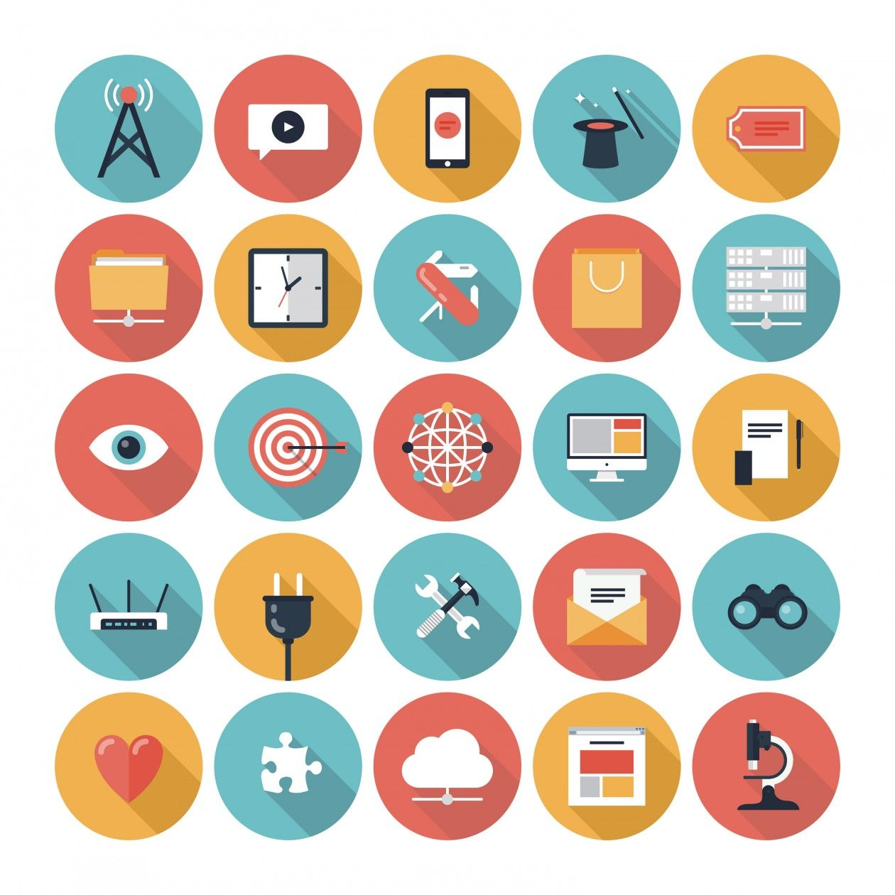 flat icons information technology icons google search
