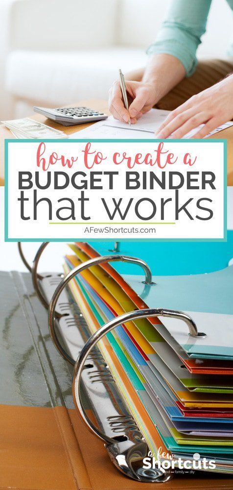 How to Create a Budget Binder That Works - A Few Shortcuts