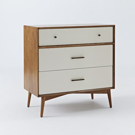 mid century 3 drawer dresser white acorn home dresser 3 drawer dresser white armoire. Black Bedroom Furniture Sets. Home Design Ideas