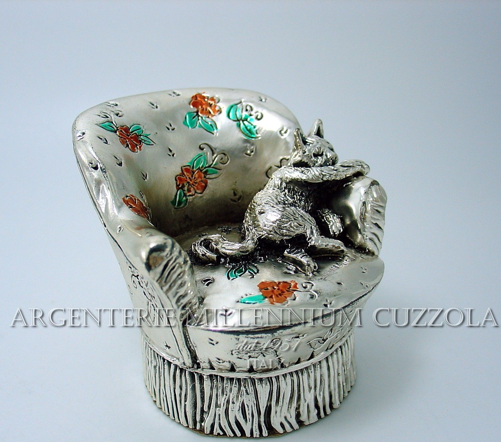 Gatto Argento Bomboniera Gattino Argentato Made in Italy Idea Regalo Silvery Cat | eBay