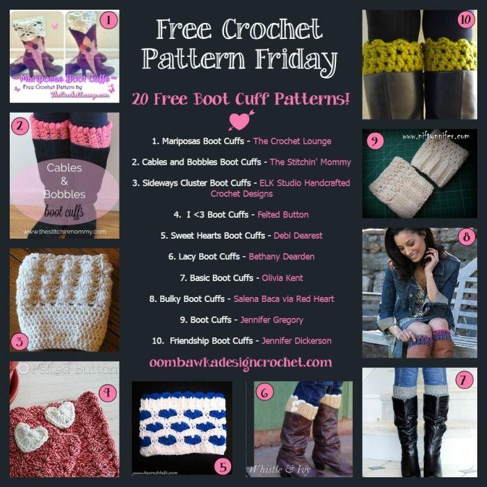 20 Free Boot Cuff Crochet Patterns | Bufanda cuello, Invierno y ...