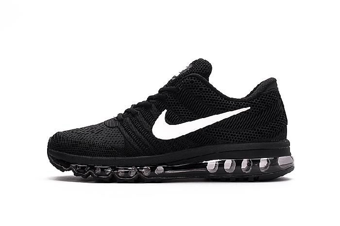 Wholesale Nike Air Max 2017 Black White Sports Shoes Outlet Shop - $69.88