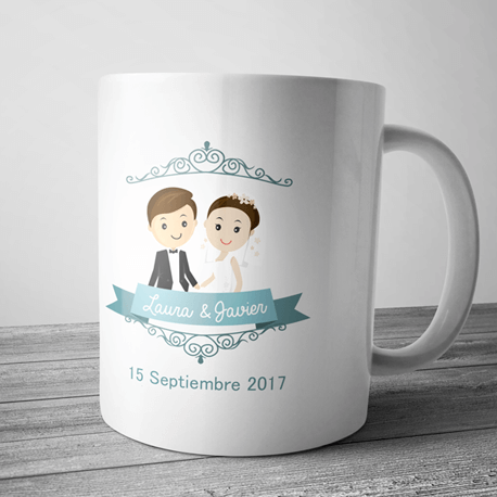Taza personalizada para bodas