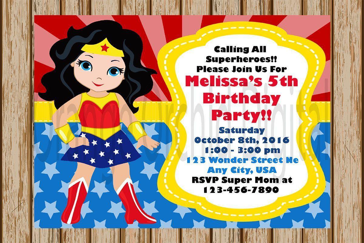 birthday invitation : superhero birthday invitations - Free ...