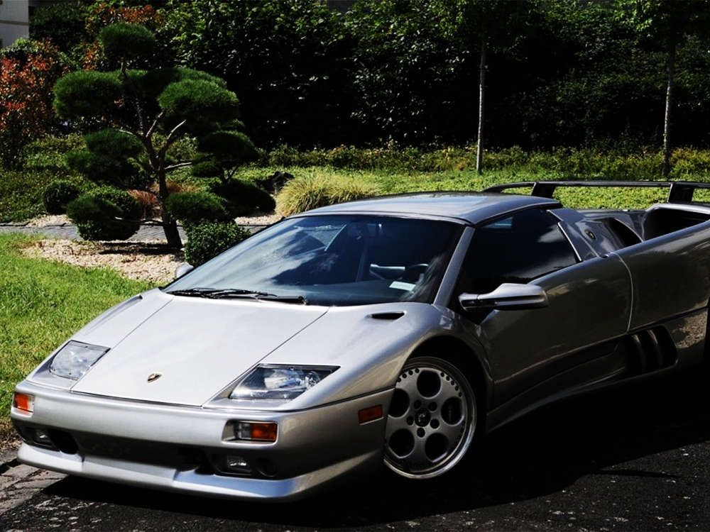 2000 Lamborghini Diablo Vt Roadster Silver Color Tags 2000