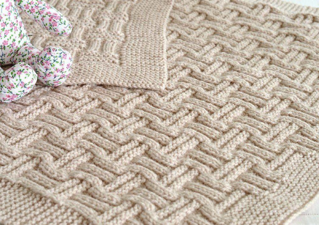 Double Basketweave Blanket Knitting pattern by Caroline ...