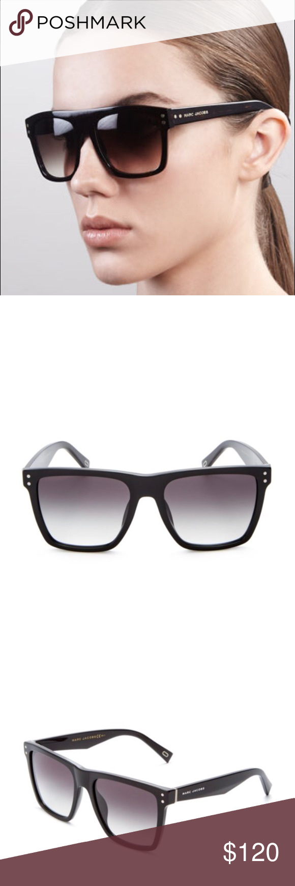 6630c9d414 New Marc Jacobs Flat Top Square Sunnies 58mm Flat-top Marc Jacobs sunglasses  with glossy