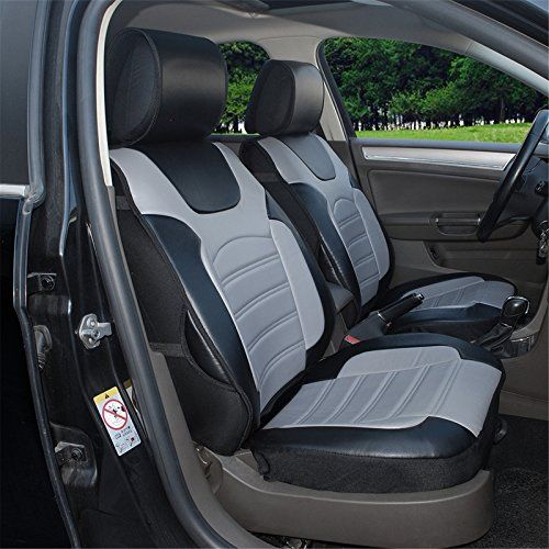 180204s Blackgrey2 Front Car Seat Cover Cushions Leather Like Vinyl Compatible To Subaru Impreza Wrx Legacy For Leather Car Seat Covers Car Seats Carseat Cover