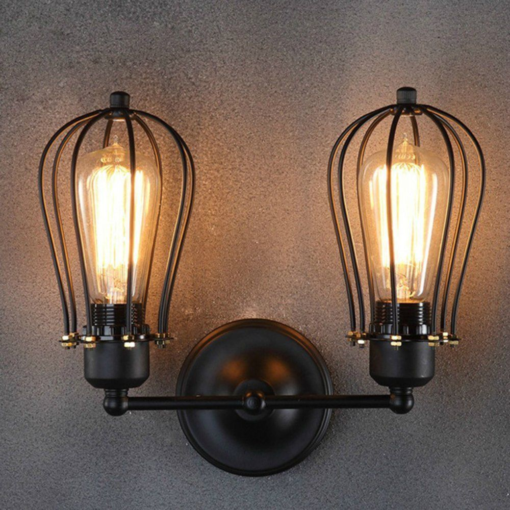 edison style lighting fixtures. Retro Edison Style Vintage Industrial Wall Cage Lamp Lampshade Lighting Fixtures