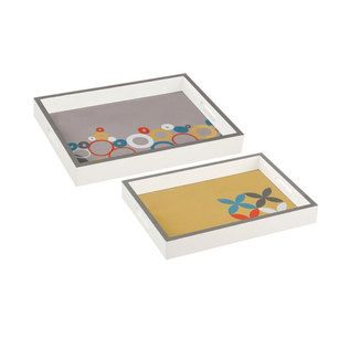 Mod Graphic Serving Trays - Set of 2
