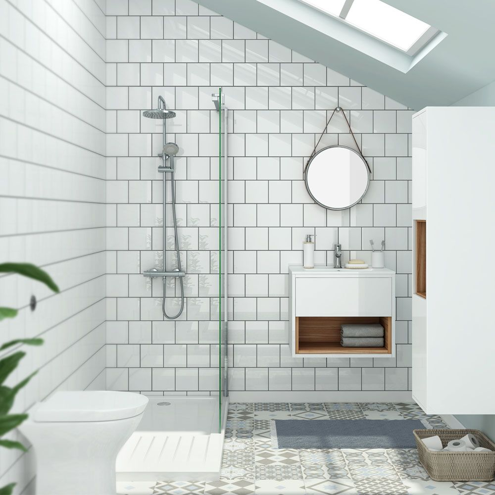 Stunning Small Bathroom Tile Ideas The Tile Needs To Be Installed Around The Shower Space To Mak Small Bathroom Makeover Bathroom Design Small Small Bathroom