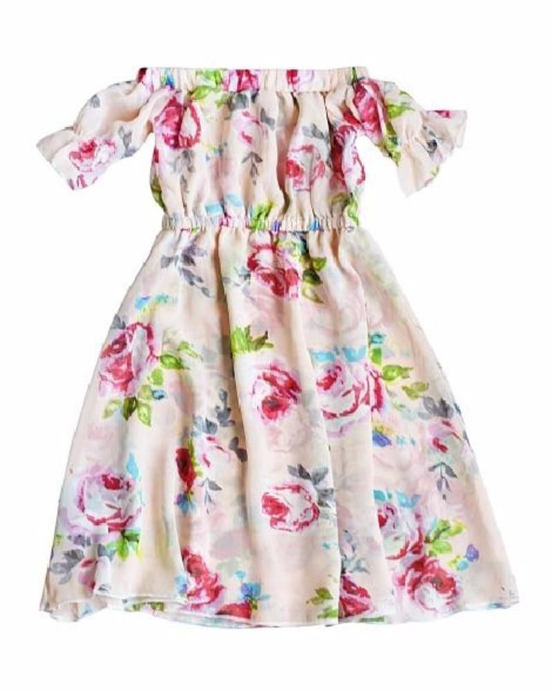 Kristen cold shoulder bell sleeve maxi dress