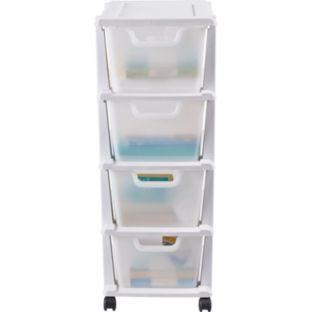 buy keter 4 drawer tower storage unit white at. Black Bedroom Furniture Sets. Home Design Ideas