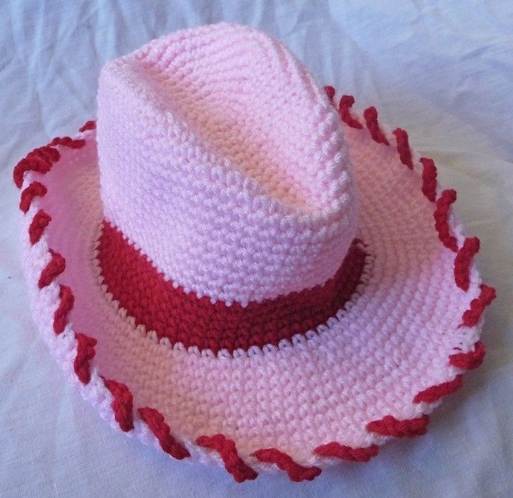crochet cowgirl hat. @Judy Havens yes i still want one. no i don't want it in pink.