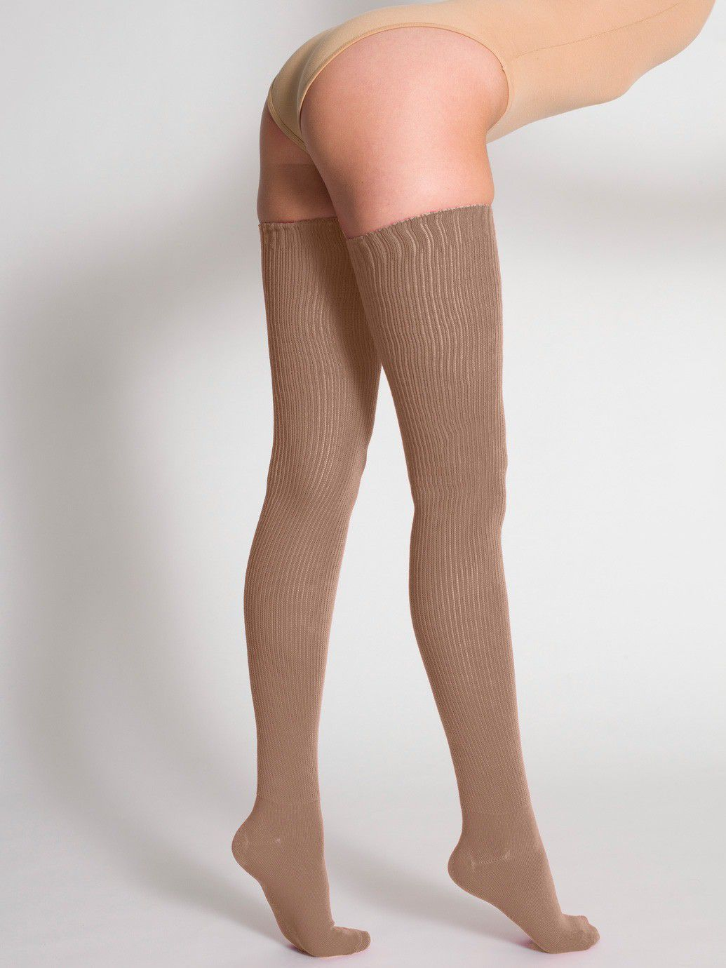 3b9dcdbcf Cotton Solid Thigh-High Socks American Apparel