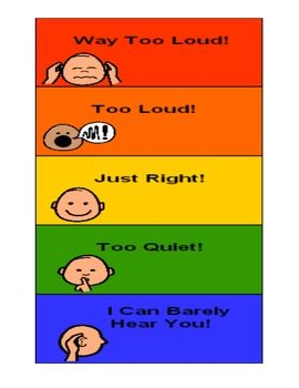 Voice Volume Chart to help with reminding students about ...