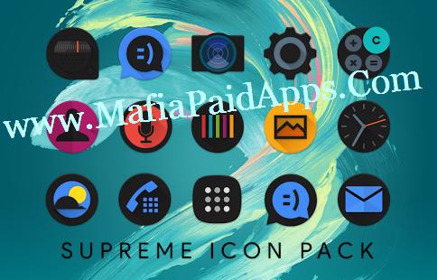 Supreme Icon Pack v1.1 Apk Icon pack