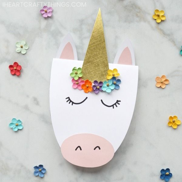 how to make a simple diy unicorn card with images