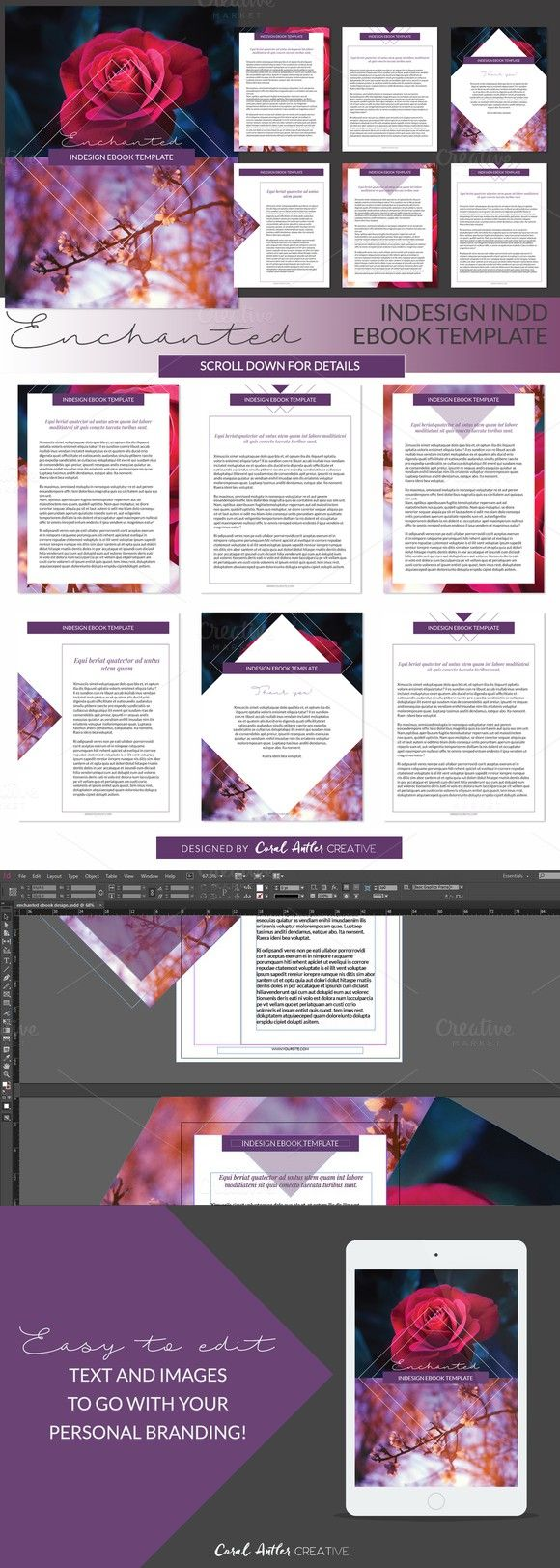 enchanted indesign ebook template | presentation templates, adobe, Powerpoint templates