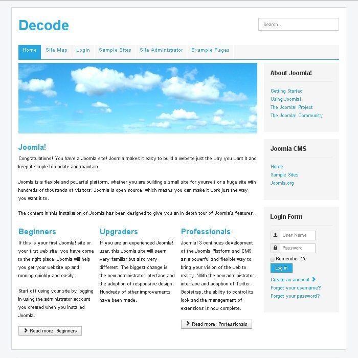 Decode Free Joomla 3.4 Template