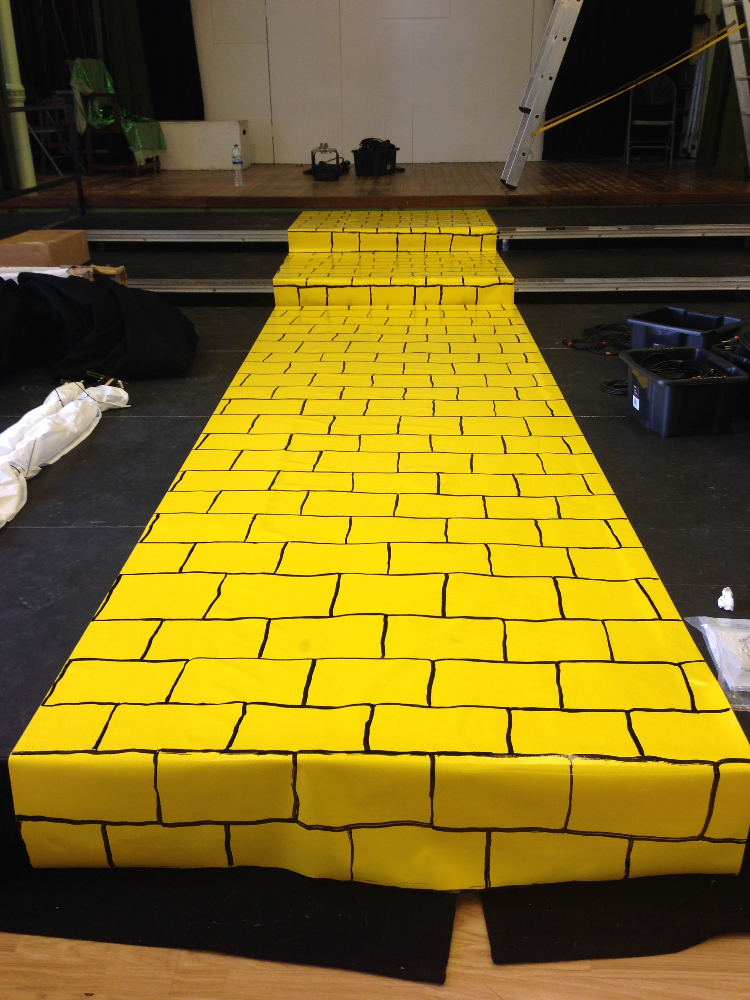 One Yellow Brick Road Created By 7 Metres Of Yellow Vinyl