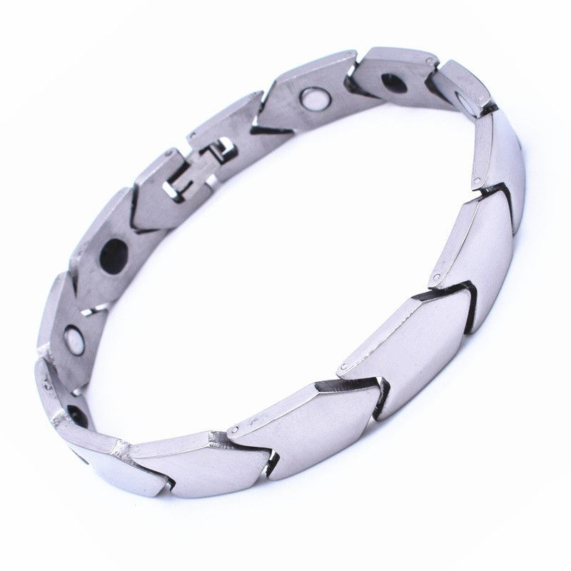 Energy Magnetic Health Bracelet Plated Gold/Silver For Men
