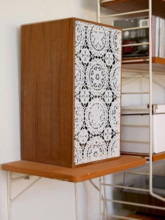 Liven Up Less-Than-Lovely Speakers With Lace | Decor, Home ...