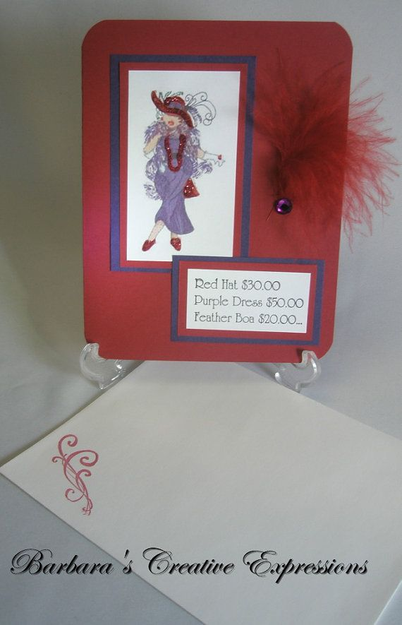 Birthday Card for Red Hat Lady
