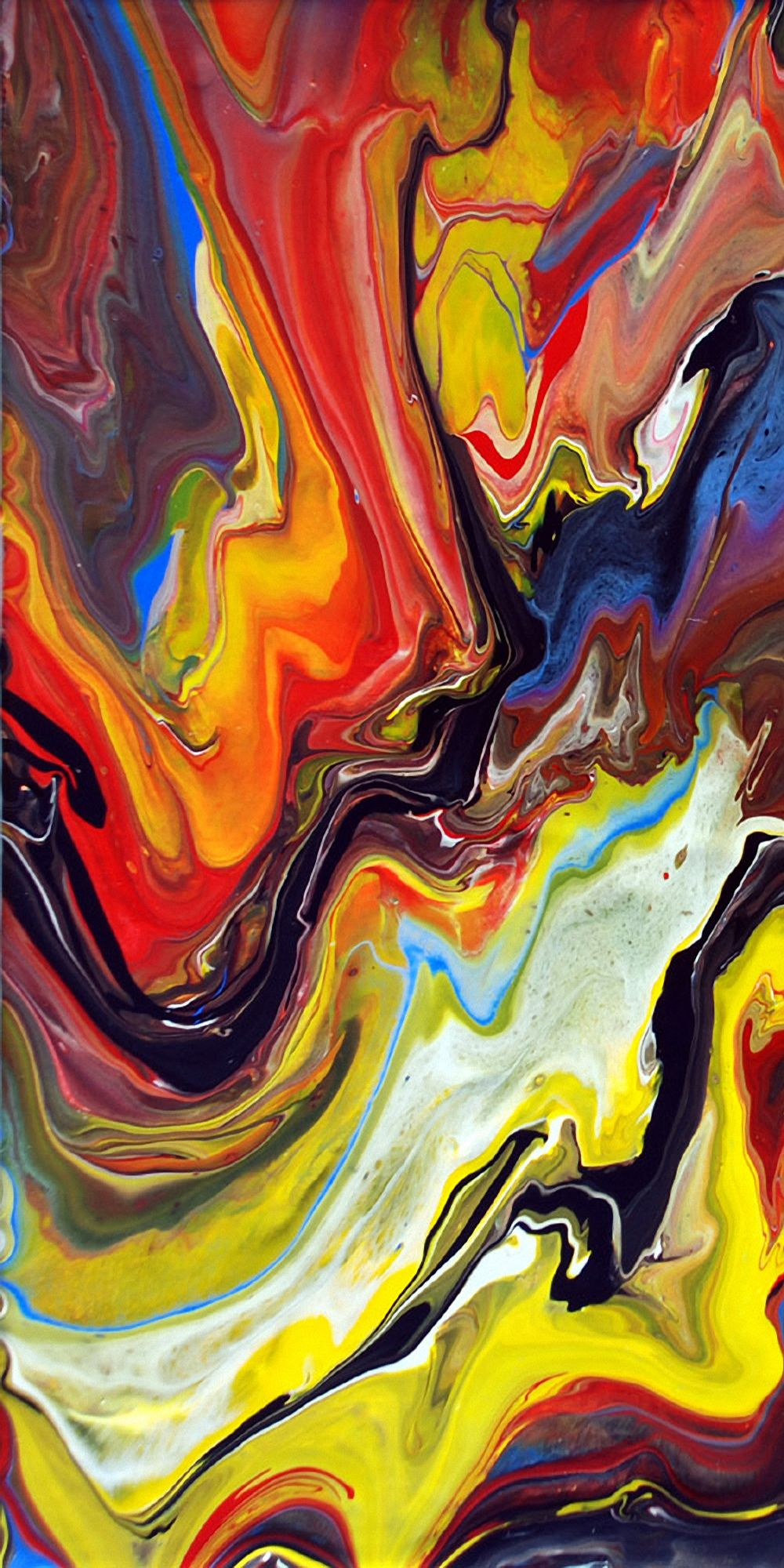Fluid Painting Details Phone Wallpapers In 2020