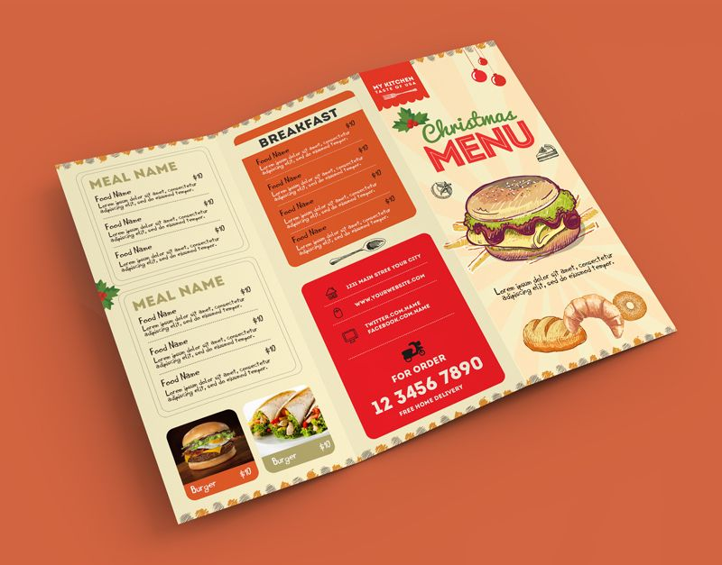 50+ Free PSD Restaurant Flyer Menu Templates Retro food - retro brochure template