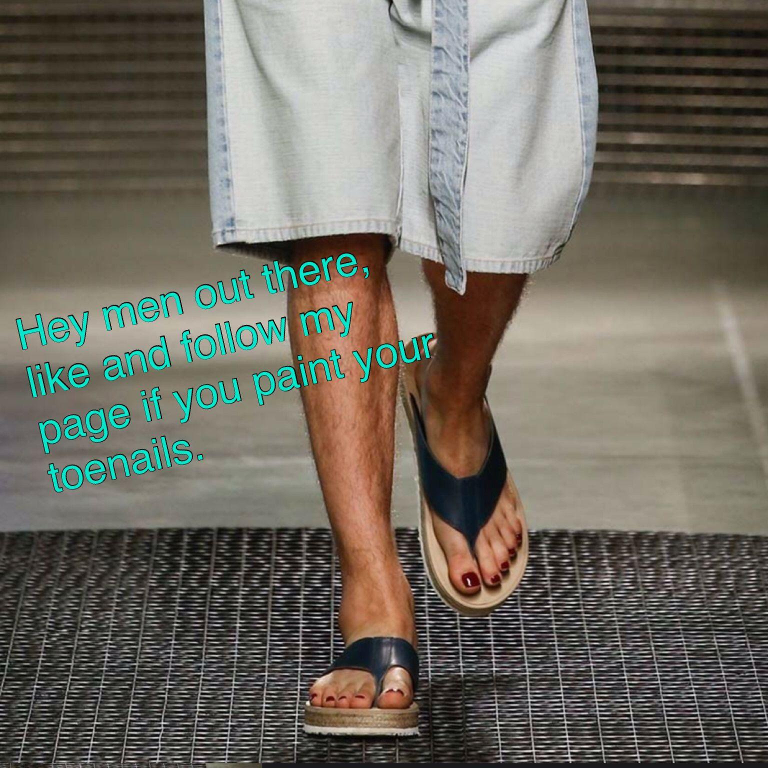 Why do guys paint their toenails