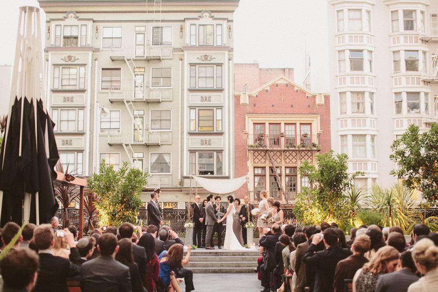 Rooftop Restaurant Wedding 620 Jones San Francisco Urban Kate Harrison Photography
