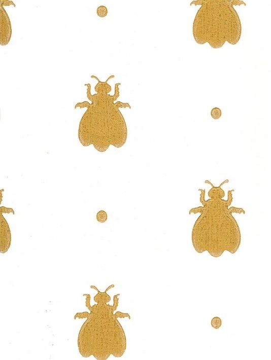 Bumble Bee Wallpaper GBP7800 Per Roll Off White Paper With Gold Bees Width 52 Cms