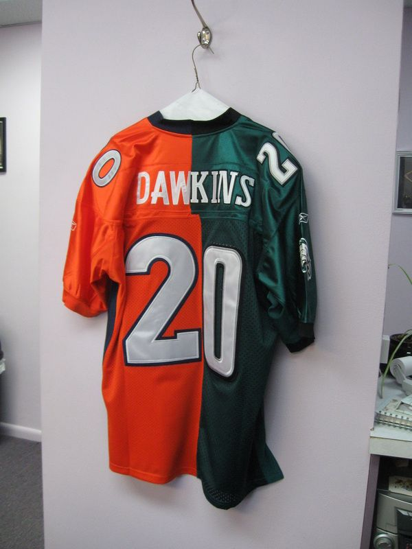 info for ba4bc 7c607 Custom Brian Dawkins Eagles Broncos Jersey | Best Defensive ...