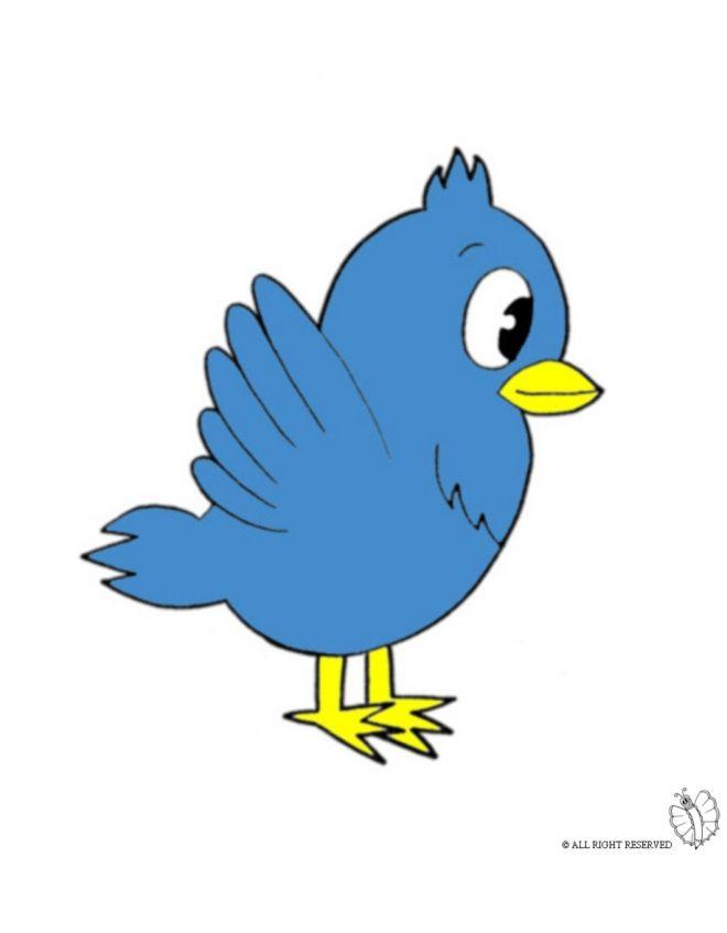 Disegno Di Uccello A Colori Per Bambini Gratis