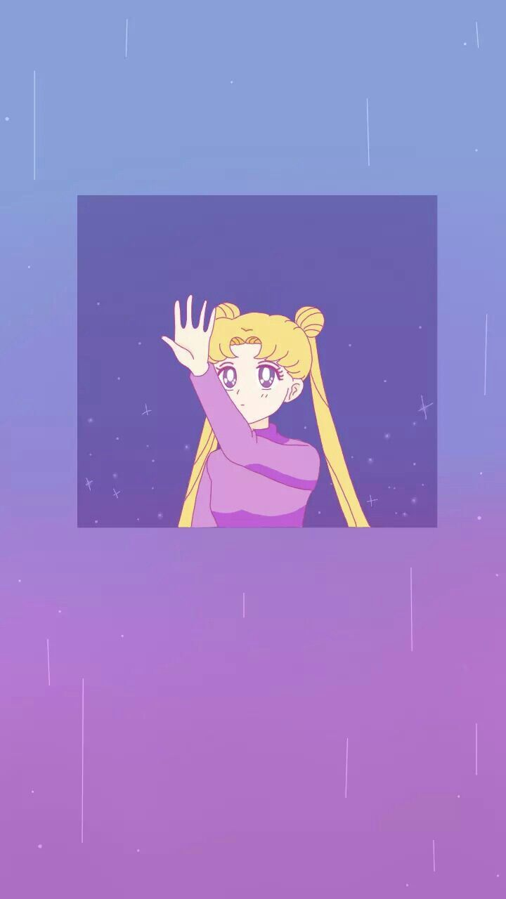 Vaporwave Sailor Scouts Moon Aesthetic Jpg 720x1280 Live Wallpaper Iphone