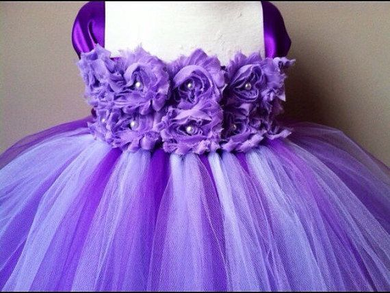 Flower girl tutu dress - lavender flower girl dress- purple flower girl dress - spring wedding - summer wedding - flower girl dress