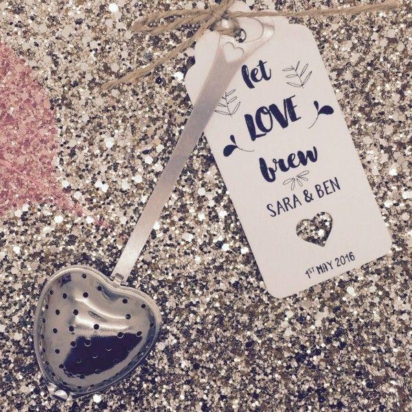 Heart Shape Tea Infuser Wedding Favour
