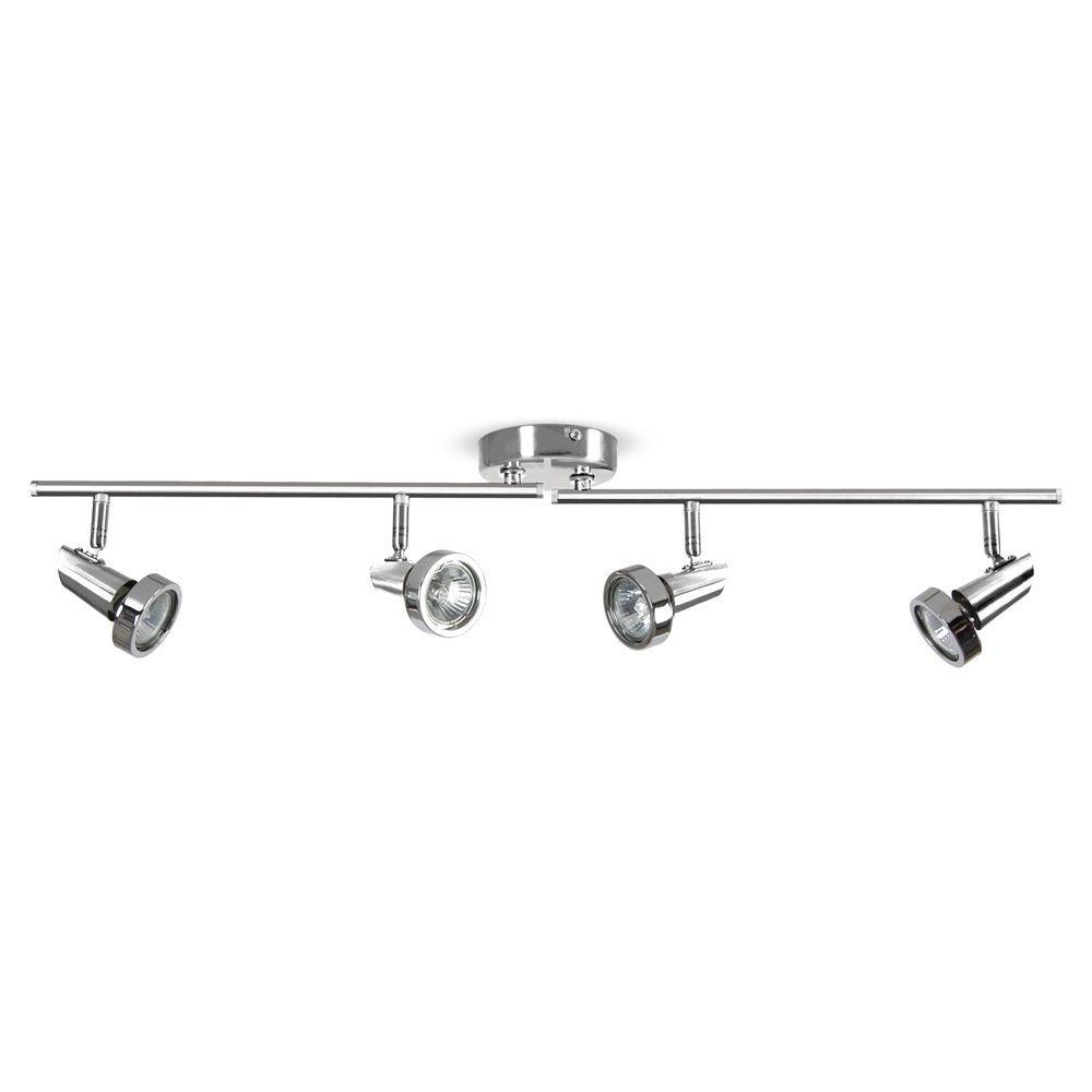 modern chrome 4 way gu10 kitchen ceiling spot light spotlight fitting lights - Spotlight Kitchen Lights