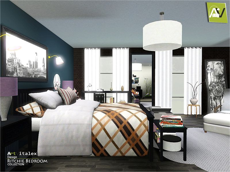 Ritchie Bedroom Found in TSR Category \'Sims 3 Adult Bedroom Sets ...