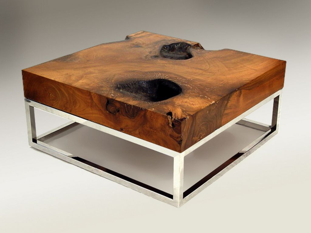 Unique Coffee Tables Awesome Coffee Tables Designs With Natural Wood Material And
