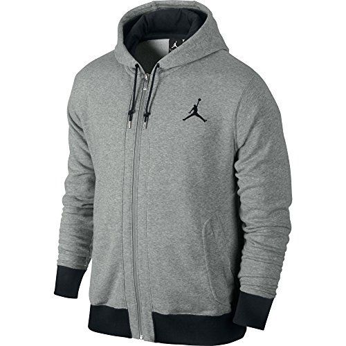 nike jordan sweat capuche zipp pour homme s gris gris fonc noir nike. Black Bedroom Furniture Sets. Home Design Ideas