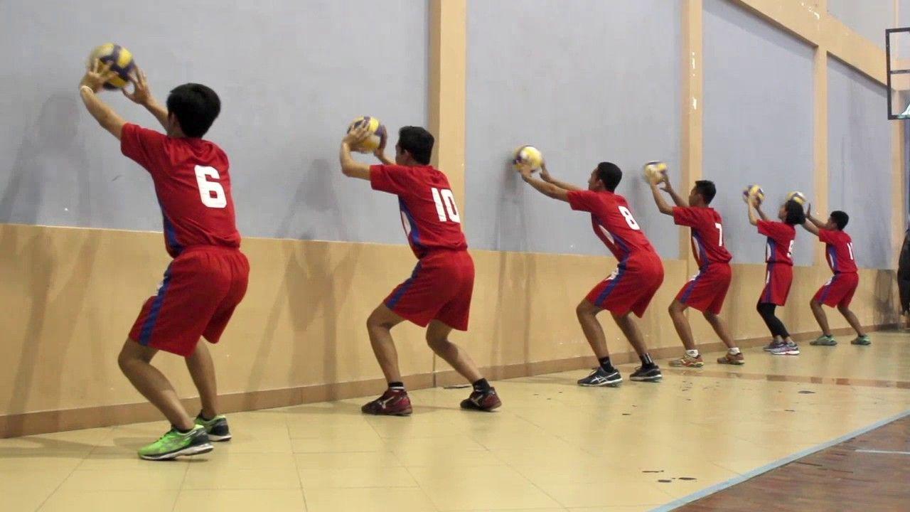Passing Volleyball Drill Latihan Bola Voli Latihan Voli Bola Voli